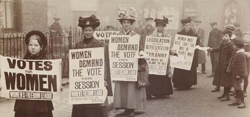Valiant Women protesting for the right to vote